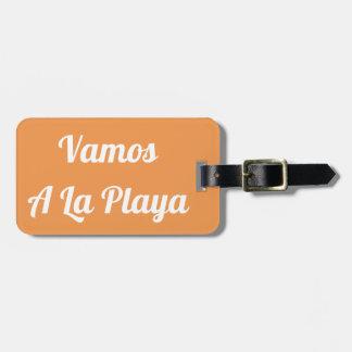 Étiquette À Bagage Vamos une étiquette de bagage de Playa de La