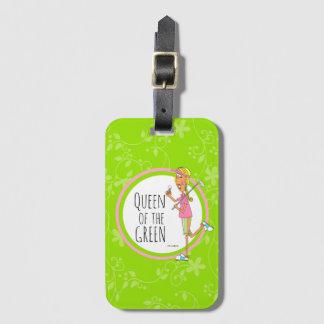 Étiquette À Bagage Vertical-Reine du vert