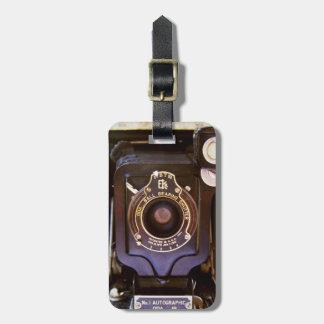 Étiquette À Bagage Vieil appareil-photo