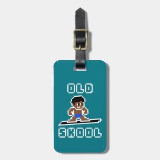 Étiquette À Bagage Vieux Skool surfant (mâle, BLANCS bronzés)