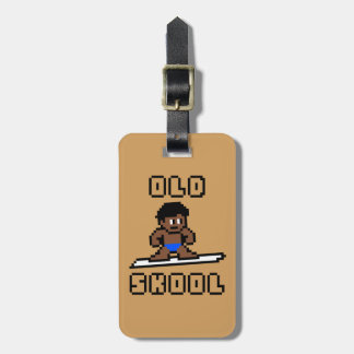 Étiquette À Bagage Vieux Skool surfant (mâle pâle, noir)