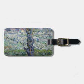 Étiquette À Bagage Vincent van Gogh - arbres peignant l'illustration