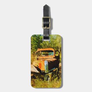 Étiquette À Bagage Vintage rouillé prennent l'abrégé sur camion