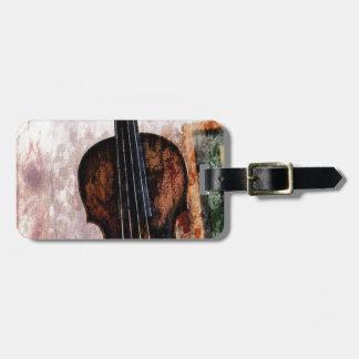 Étiquette À Bagage violon de violon d'instrument de musique