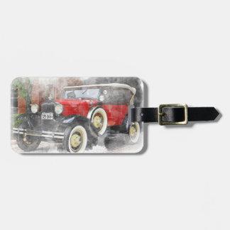Étiquette À Bagage Voiture vintage