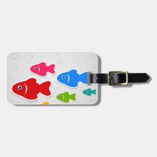 Étiquette À Bagage Vol de fishes3