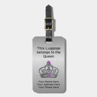 Étiquette À Bagage Voyage royal drôle de couronne de la Reine