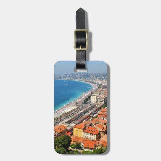Étiquette À Bagage Vue aérienne de la Côte d'Azur à Nice, France