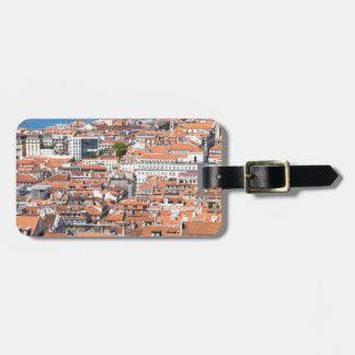 Étiquette À Bagage Vue aérienne de Lisbonne, Portugal