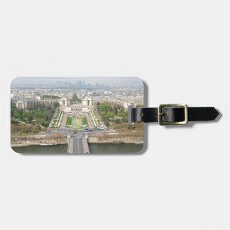 Étiquette À Bagage Vue aérienne de Paris