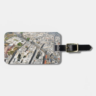 Étiquette À Bagage Vue aérienne de Paris, France