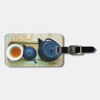 Étiquette À Bagage Vue aérienne de photographie d'arrangement de thé