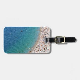 Étiquette À Bagage Vue aérienne de plage à Nice, France