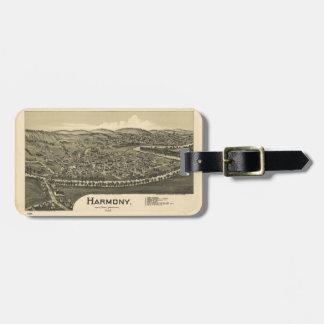 Étiquette À Bagage Vue aérienne d'Harmony, Pennsylvanie (1901)