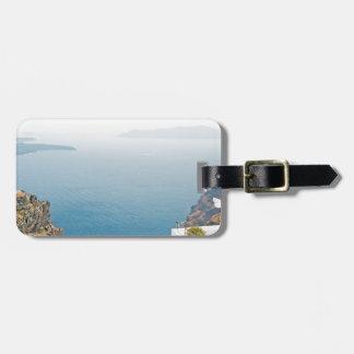 Étiquette À Bagage Vue en île de Santorini