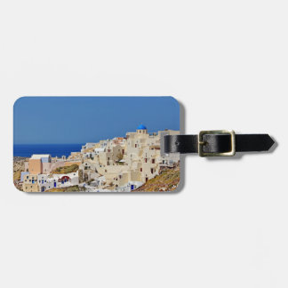 Étiquette À Bagage Vue panoramique de Santorini