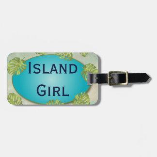 Étiquette À Bagage Week-end tropical de Bachelorette de fille d'île