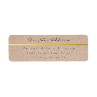 Étiquette Adresse blanche de papier naturelle RSVP de Papier