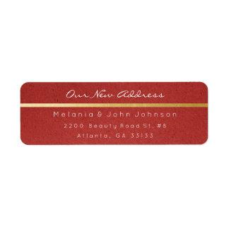 Étiquette Adresse blanche de papier rouge naturelle RSVP de