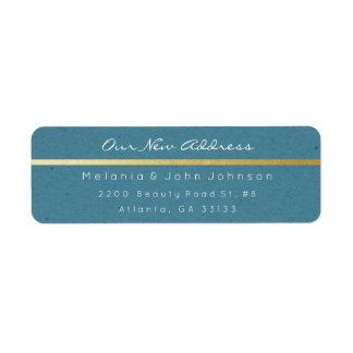 Étiquette Adresse blanche de papier vert-bleu RSVP de Papier