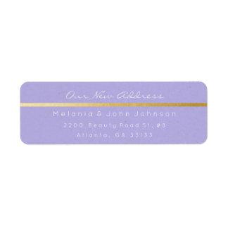 Étiquette Adresse blanche pourpre en pastel RSVP de Papier