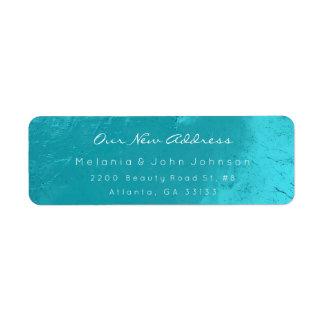 Étiquette Adresse blanche RSVP d'océan de turquoise d'Aqua