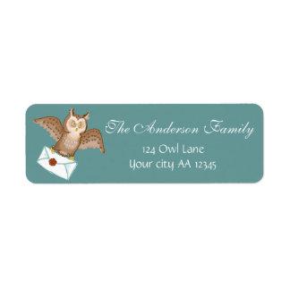 Étiquette Adresse de courrier de hibou