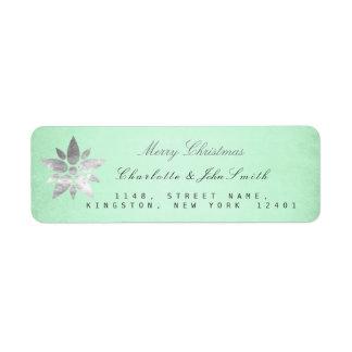 Étiquette Adresse de menthe d'argent de nouvelle année de