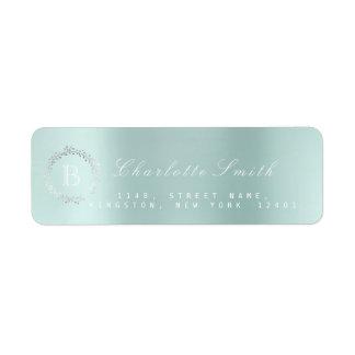 Étiquette Adresse de retour d'Aqua d'océan de guirlande de