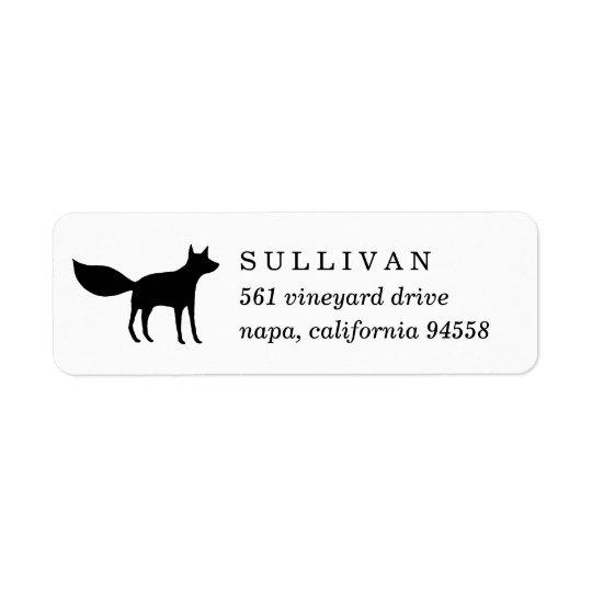 Étiquette Adresse de retour de Fox d'hiver