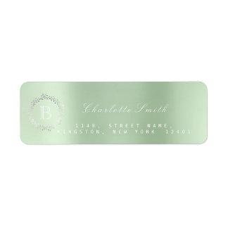 Étiquette Adresse de retour de menthe d'argent de guirlande