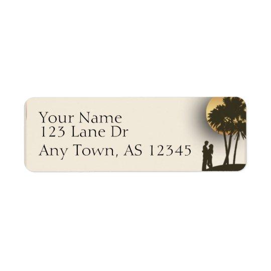 Étiquette Adresse de retour de paradis d'île
