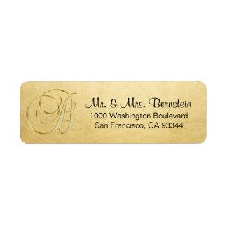 Étiquette Adresse de retour élégante de la lettre B de