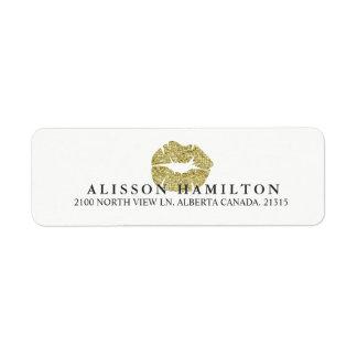 Étiquette Adresse de retour personnalisée par | de lèvres