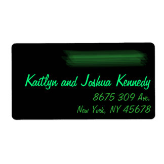Étiquette Adresse élégante minimaliste de menthe de vert