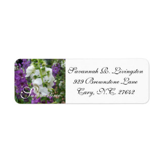 ÉTIQUETTE ADRESSE LABEL_PURPLE/WHITE ANGELONIA DE