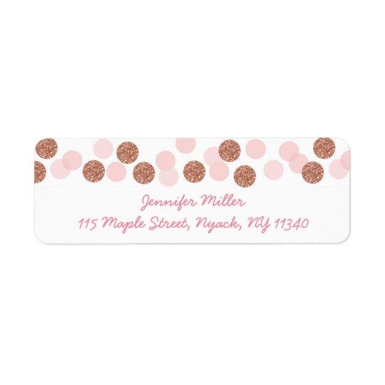Étiquette Adresse rose de baby shower de scintillement d'or