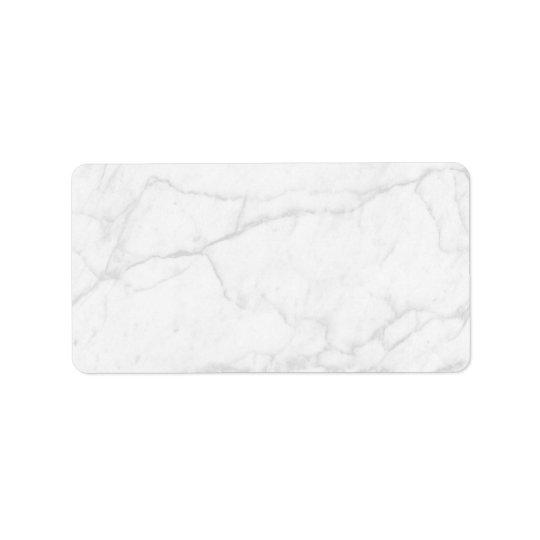 Étiquette Adresse vide personnalisée par | blanche de marbre