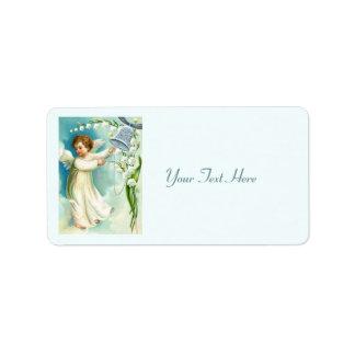 Étiquette Ange de bébé avec Bell bleue