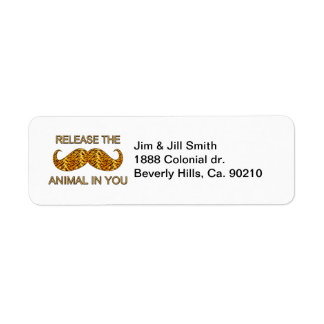 Étiquette Animal dans vous moustache de rayure de tigre