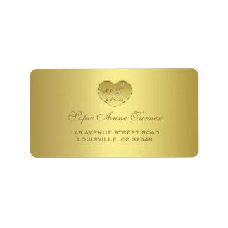 Étiquette Anniversaire de mariage d'or cinquantième nous