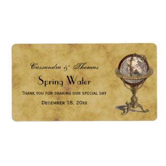 Étiquette antique de l'eau de Distressd BG H de