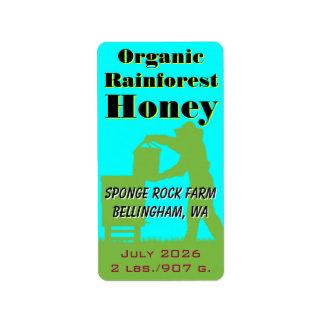 Étiquette Apiculteur organique de coutume de miel de forêt