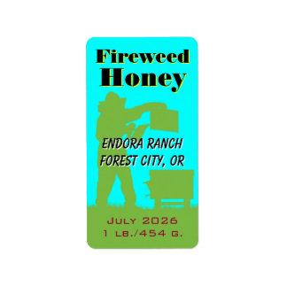 Étiquette Apiculteur personnalisé par miel de Fireweed