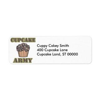 Étiquette Armée de petit gâteau