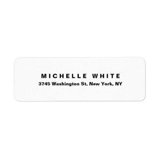 Étiquette Audacieux noir et blanc minimaliste moderne
