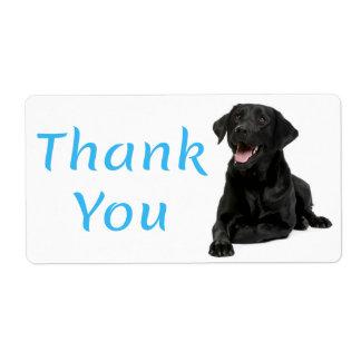 Étiquette Autocollant noir de chien de labrador retriever de