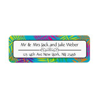 Étiquette Autocollants colorés d'adresse de retour de