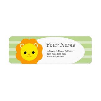 Étiquette autocollants d'adresse de retour de lion