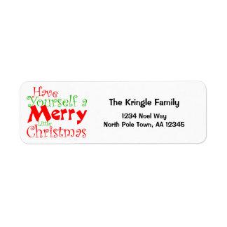 Étiquette Ayez les vacances de Joyeux Noël